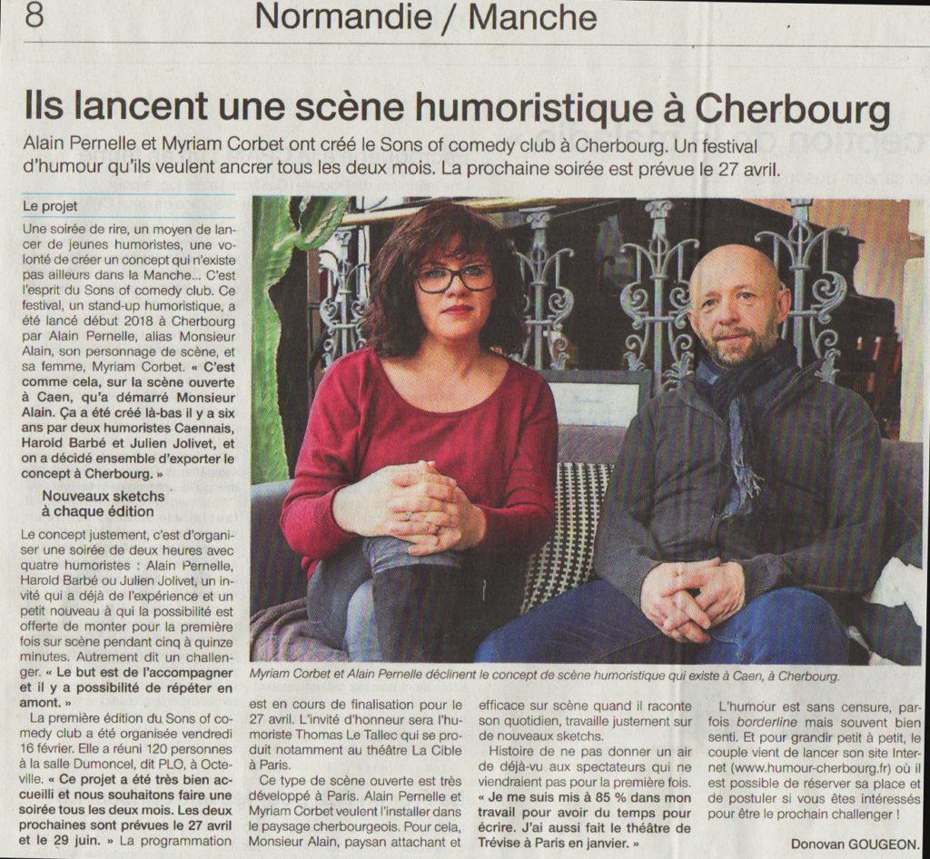 Ils lancent une scène humoristique à Cherbourg