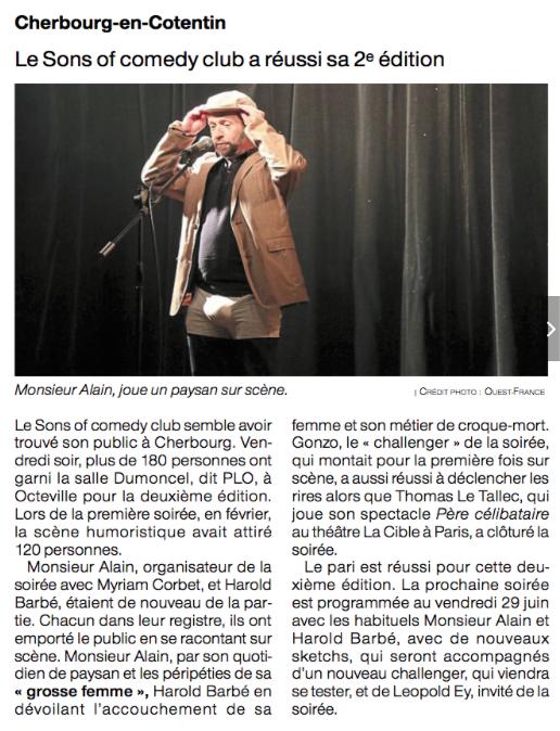 Le Scene of Comedy Cherbourg réussi sa 2ème édition