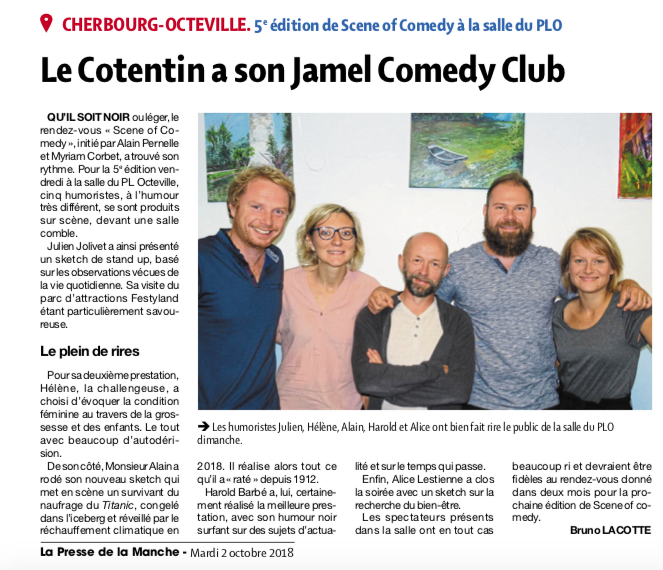 Le Cotentin a son Jamel Comedy Club