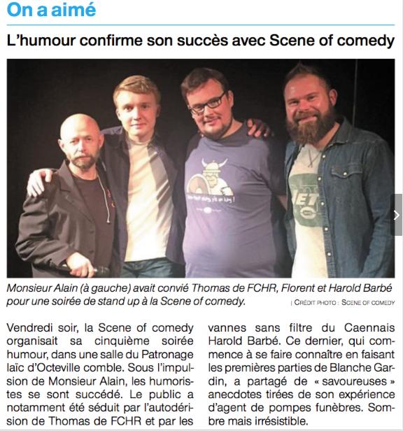L'humour confirme son succès avec Scene of Comedy Cherbourg