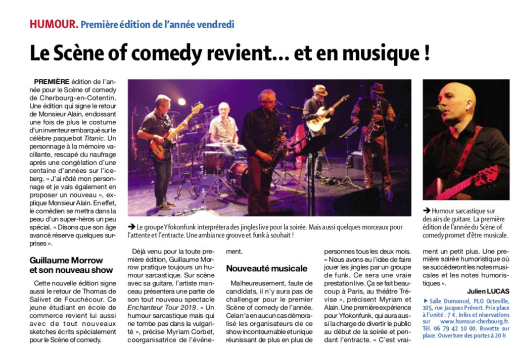 Le Scene of Comedy revient … en musique !