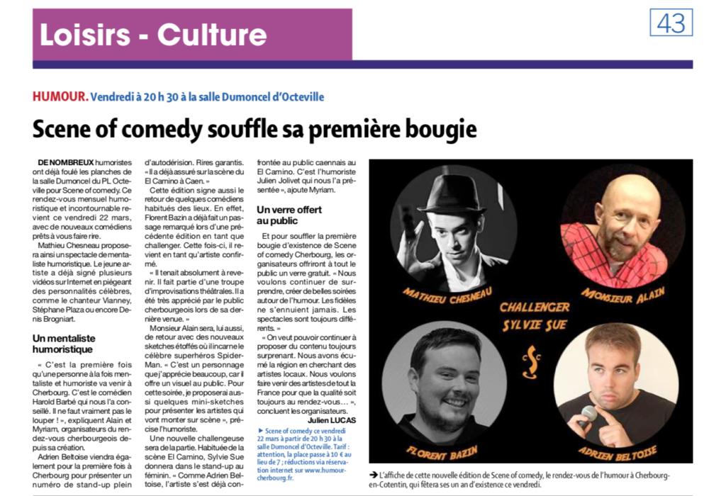 Le Scene of Comedy Cherbourg souffle sa première bougie