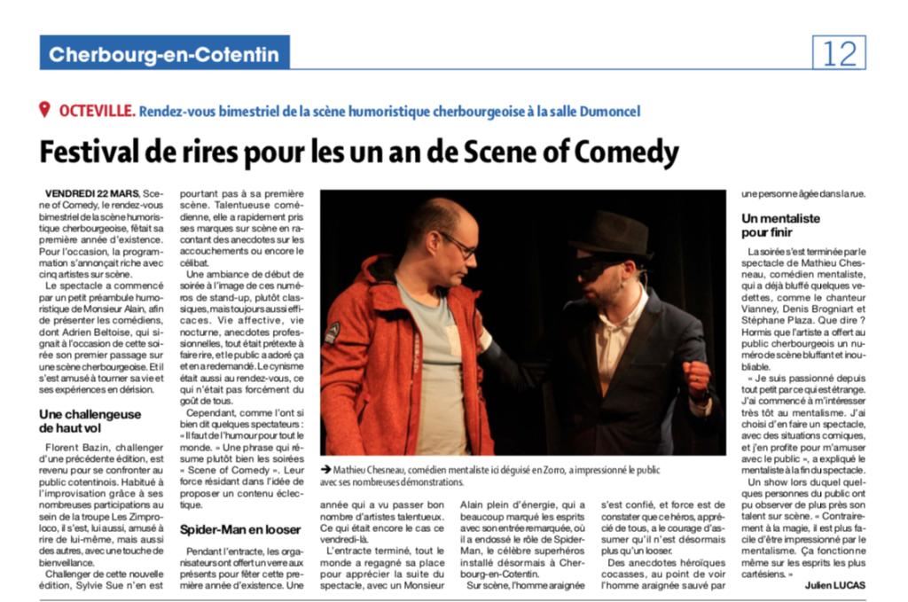 Festival de rires pour les un an du Scene of Comedy Cherbourg !
