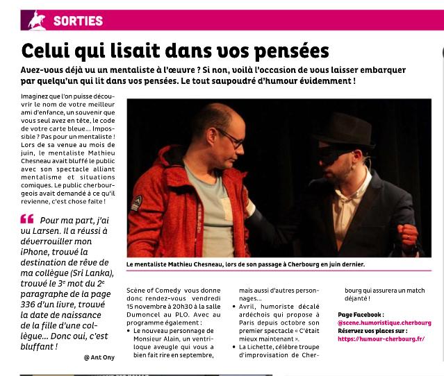 Article de Presse – C'est à Cherbourg – 13 novembre 2019