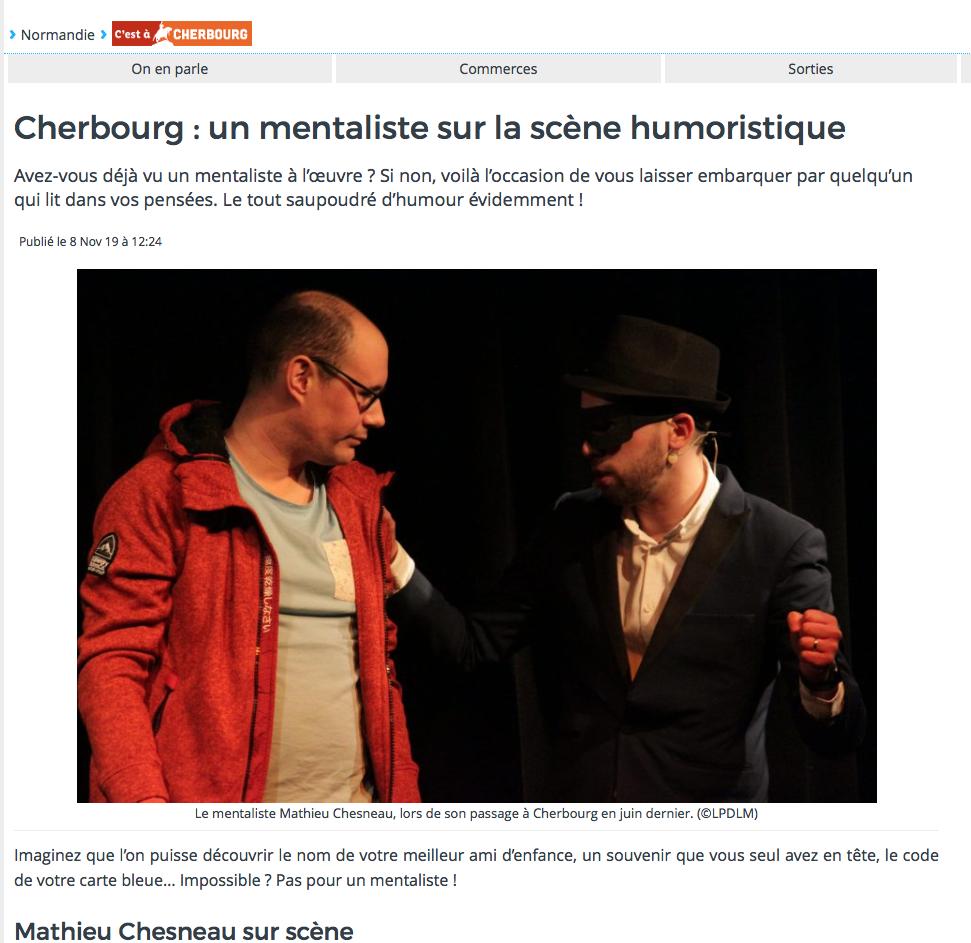 Article de Presse : Actu.fr – 8 Novembre 2019